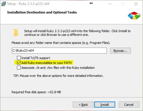 Windows Ruby 安装包